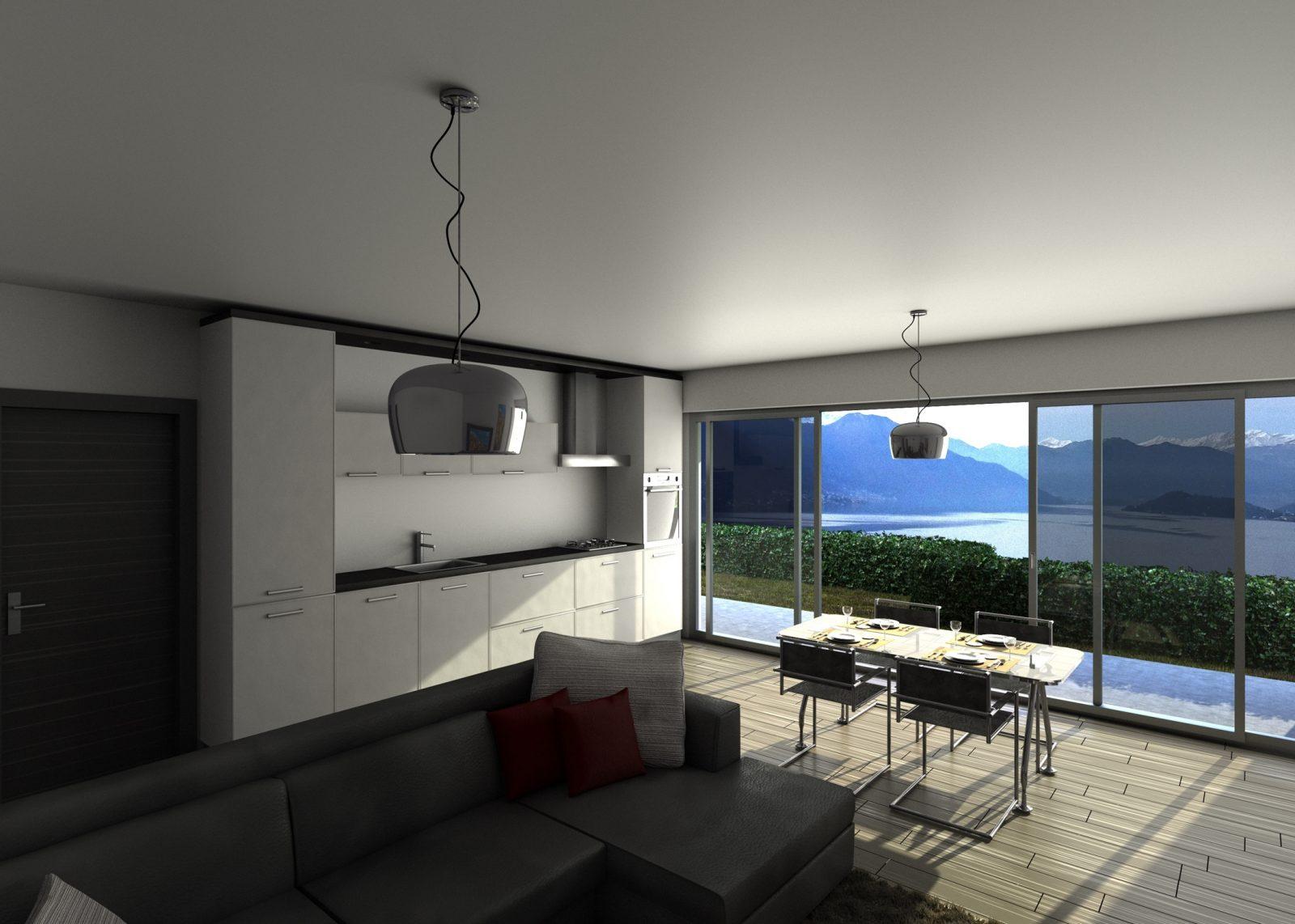 Argegno appartamenti moderni con piscina e vista agenzia for Appartamenti moderni foto