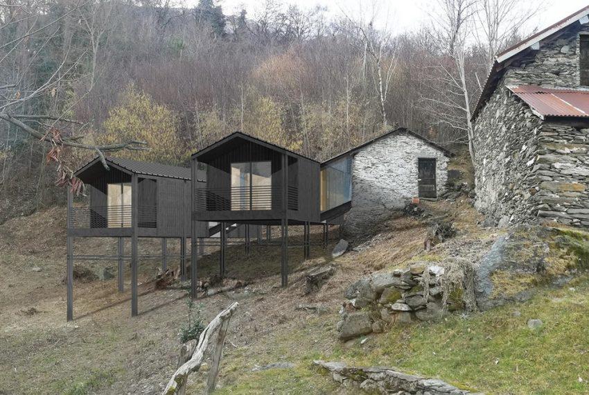 Lago di Como rustico con terreno da ristrutturare con progetto già esistente e approvato (2)