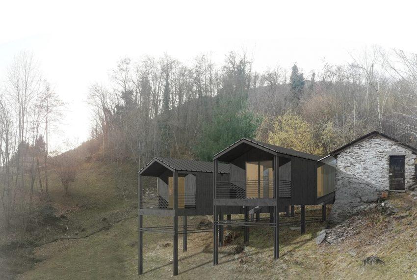 Lago di Como rustico con terreno da ristrutturare con progetto già esistente e approvato (5)