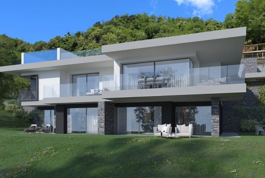 Lago di Como vercana - Domaso moderni appartamenti in residence con piscina e vista mozzafiato (2)