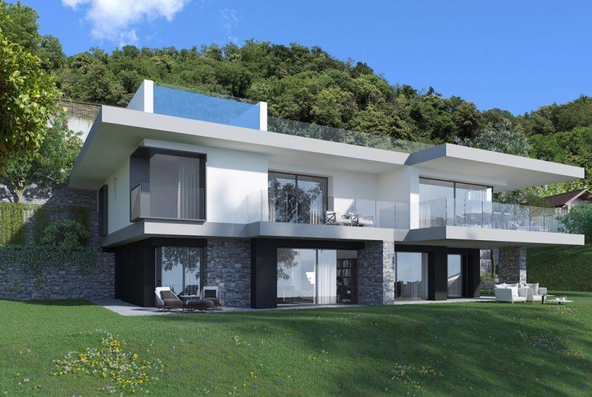 Lago di Como vercana - Domaso moderni appartamenti in residence con piscina e vista mozzafiato (3)