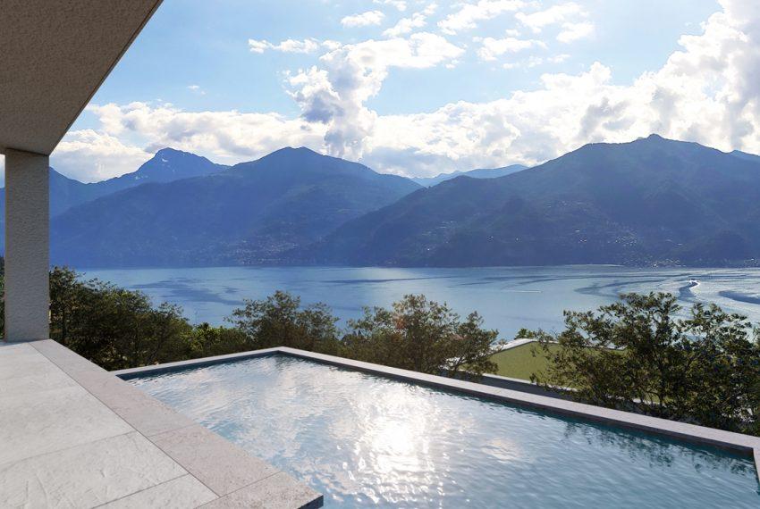 Lago Como Menaggio ville moderno con giardino, piscina e vista lago bellissima (2)