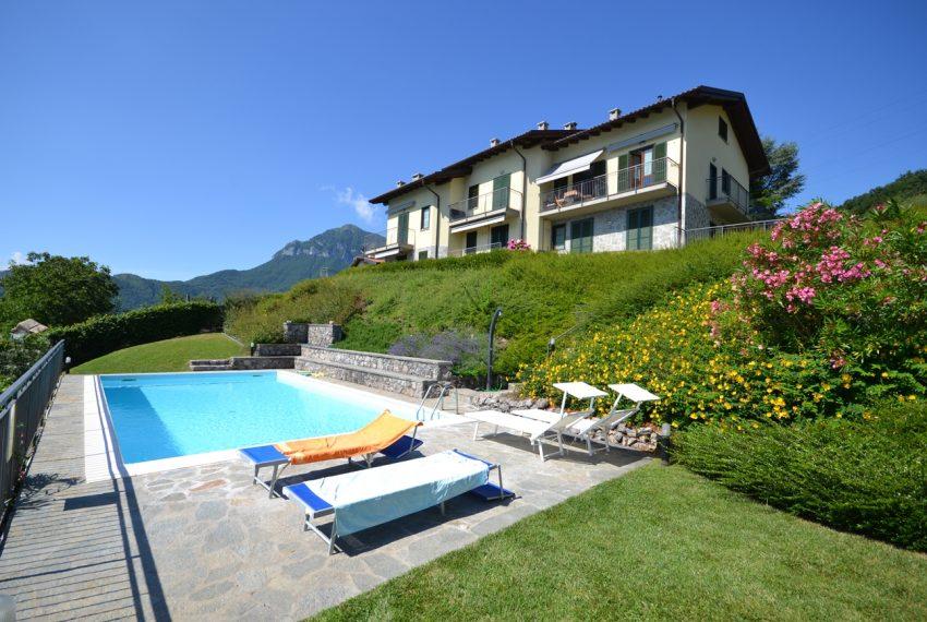 Menaggio collinare appartamento in residence con piscina e vista lago (15)