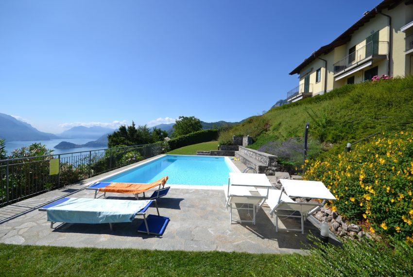Menaggio collinare appartamento in residence con piscina e vista lago (16)