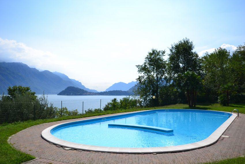 Menaggio appartamento in residence con piscina, ampio terrazzo, vista lago, garage. (13)