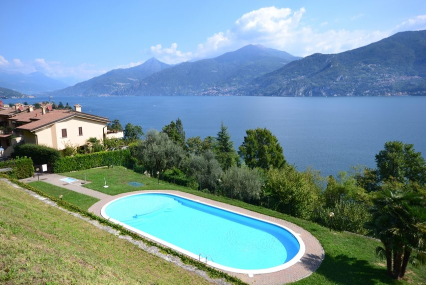 Menaggio appartamento in residence con piscina, ampio terrazzo, vista lago, garage. (14)